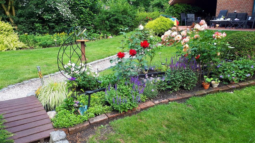 Teilansicht vom Garten Sommer