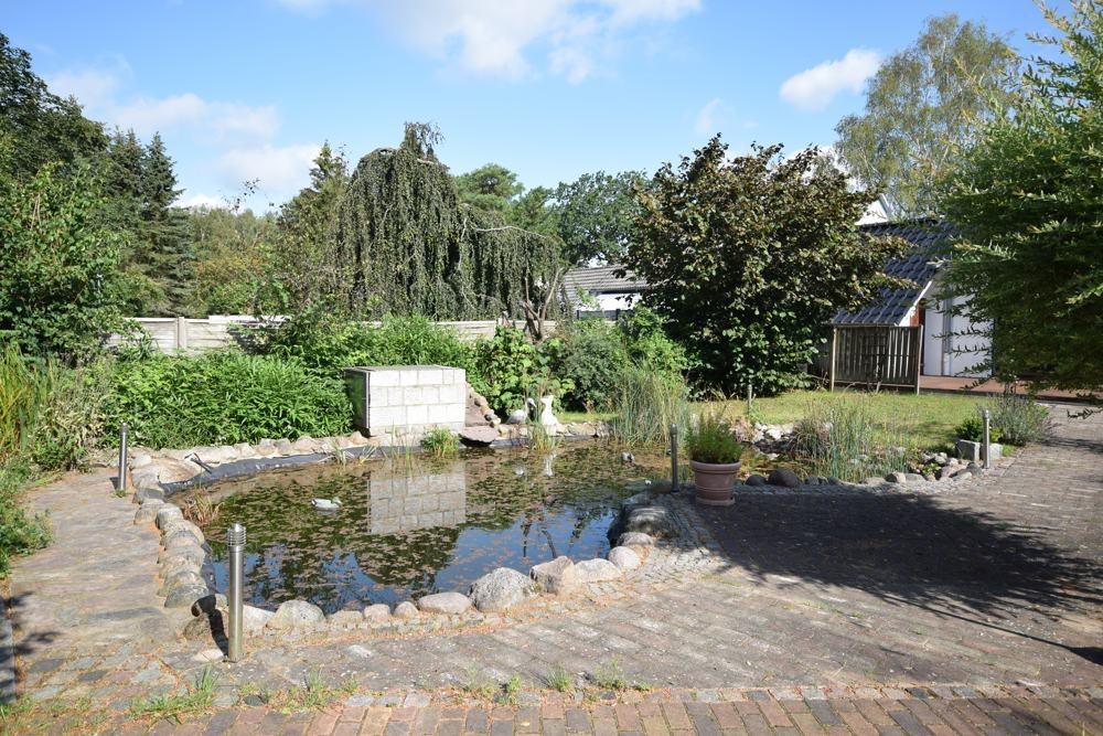 Teich auf dem Grundstück