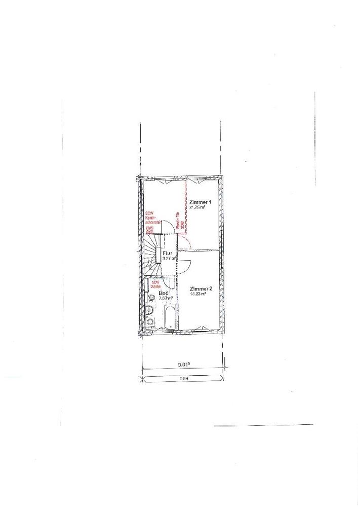 Grundriss Obergeschoss.