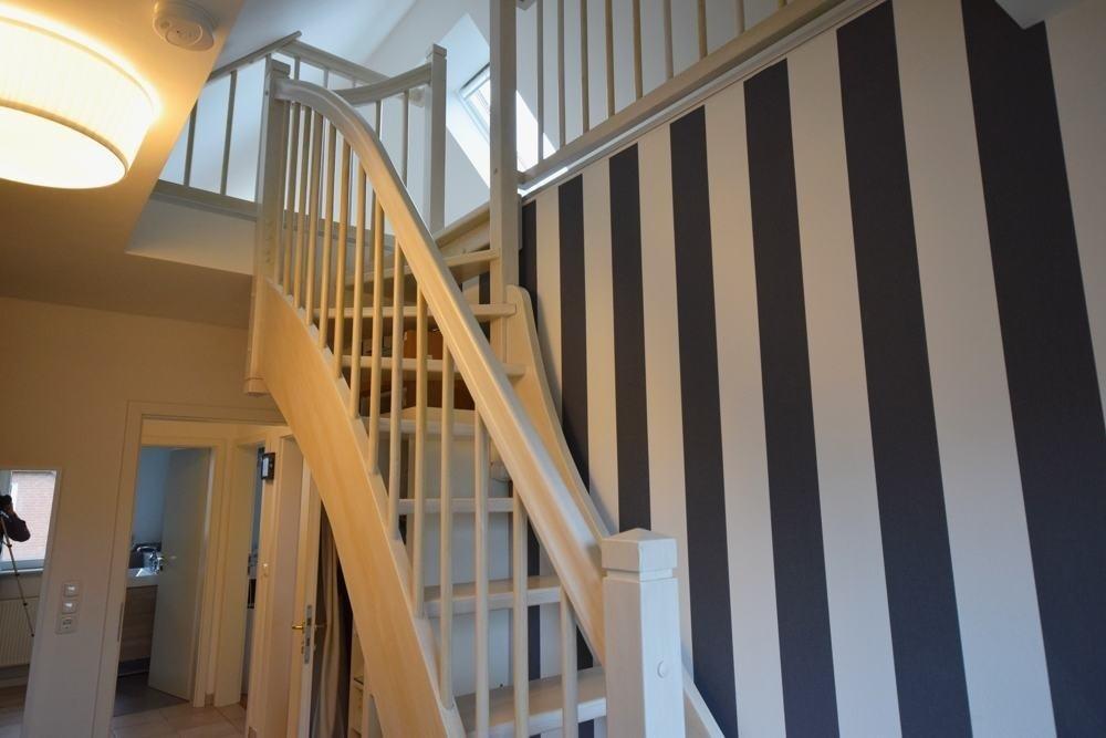 Treppe zum ausgebauten Spitzboden
