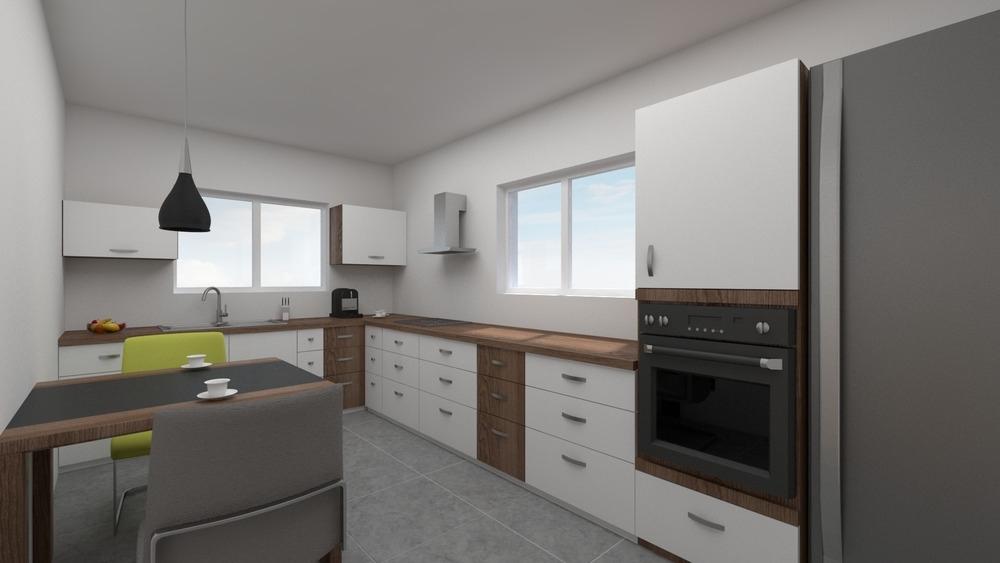 Virtuelle Ansicht Küche