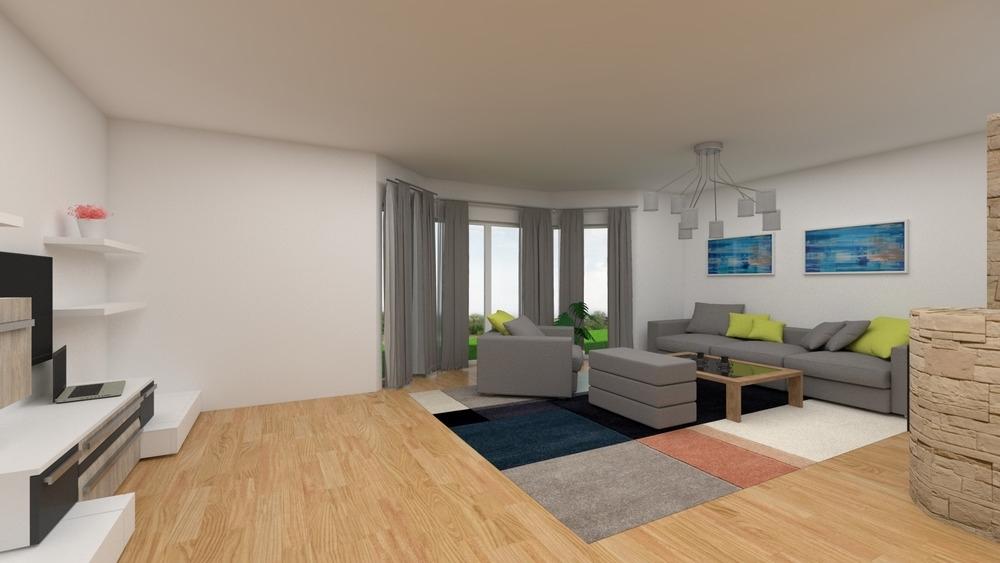 Virtuelle Ansicht Wohnzimmer