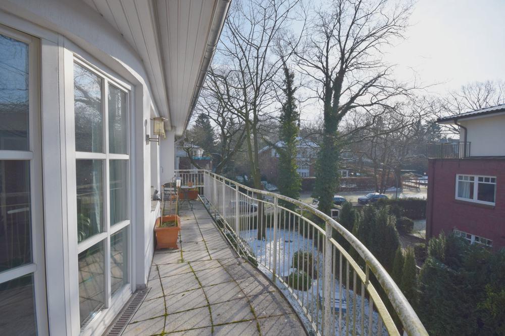 Weitere Ansicht vom Balkon