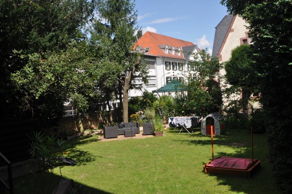Blick zum Gemeinschafts-Garten