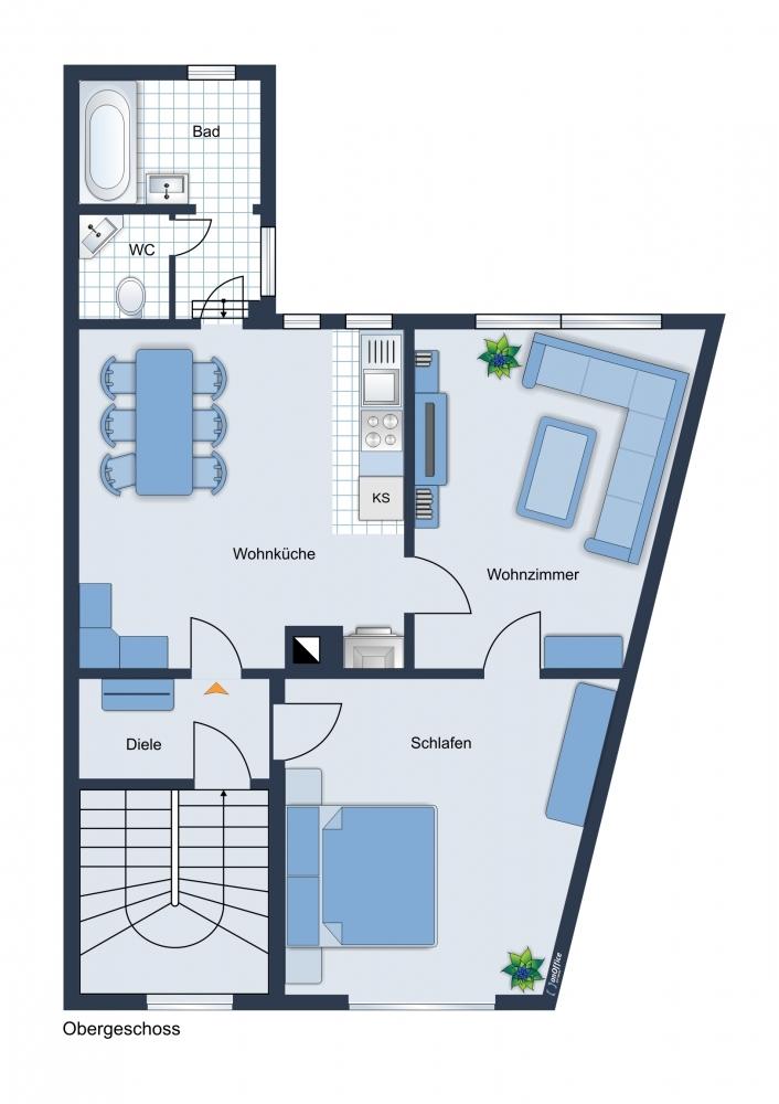 Vorderhaus Obergeschoss