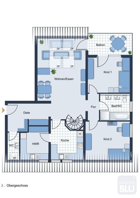 Grundriss 2.Obergeschoss