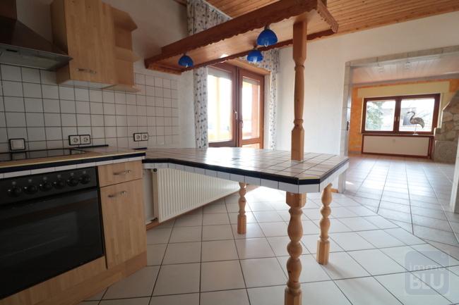 offene Küche mit Blick ins Wohnzimmer