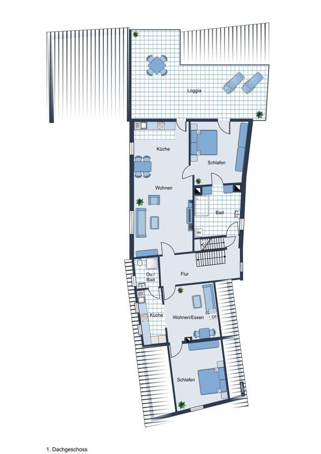 Grundriss 1. Dachgeschoss