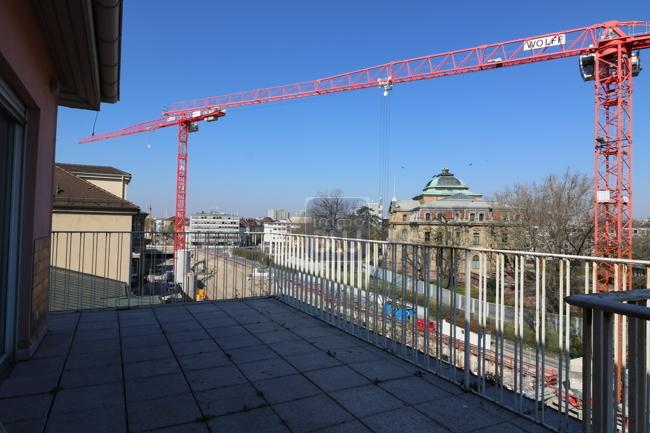 Terrasse Blick auf  BGH