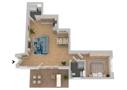 Grundriss 3D - WHG A03