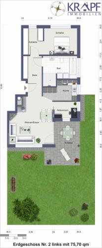 Erdgeschoss Nr 2 links