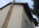 Haus Seitenansicht mit neuer Fassade