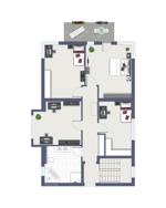 Obergeschoss als Einfamilienhaus