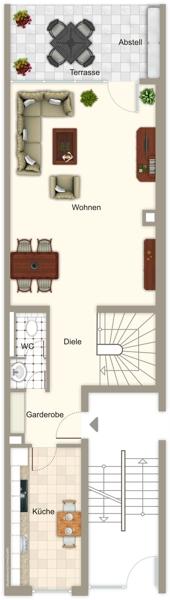 Grundriss Obergeschoss WE 13