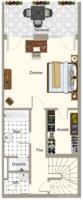Grundriss Erdgeschoss WE 13