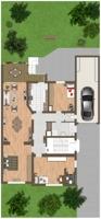 Grundriss Erdgeschoss und Außenbereich