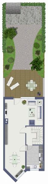 Erdgeschoss mit Außenbereich