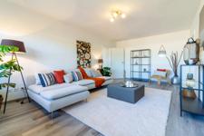 Wenn Gemütlichkeit einen Platz in dieser Wohnung braucht, dann wird es dieser sein: Das gemütliche Wohnzimmer Ihres neuen Zuhauses.