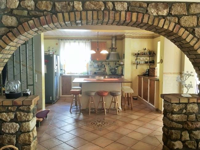 EG-Blick vom Wohnzimmer in die Küche