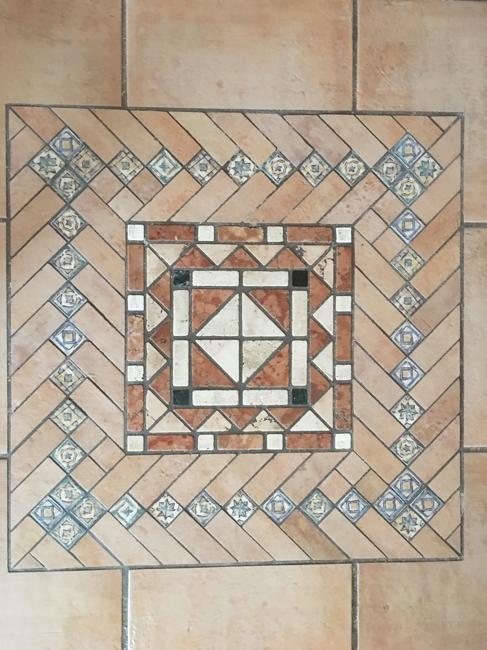 Mosaik im Wohnzimmer
