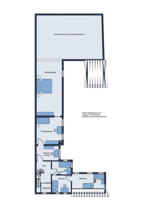 Skizze Obergeschoss