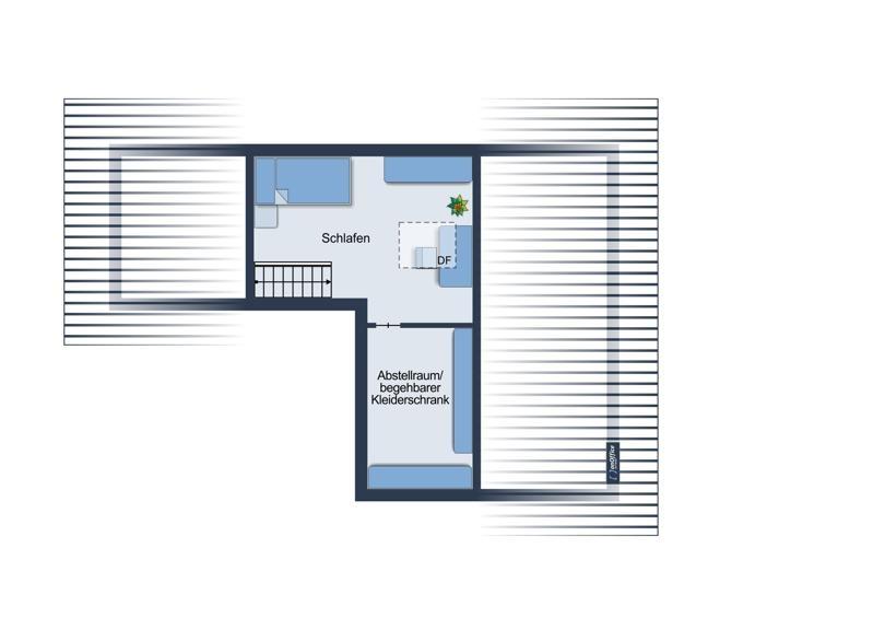 Grundriss-Skizze Dachgeschoss