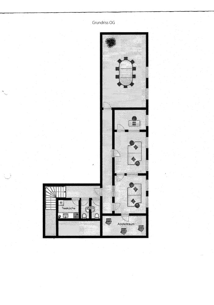 Grundriss Untergath 204 Büro 1 OG