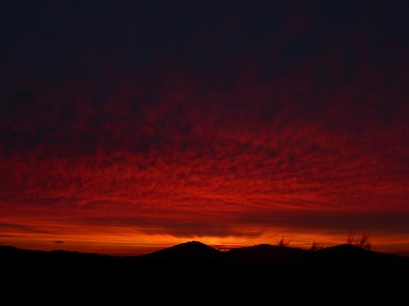 ... und bei Sonnenuntergang