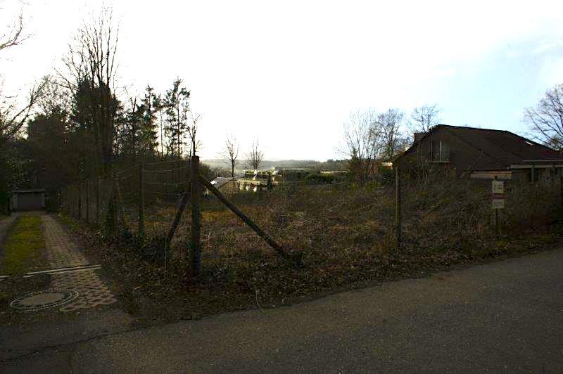 Blick von Straße auf das Grundstück
