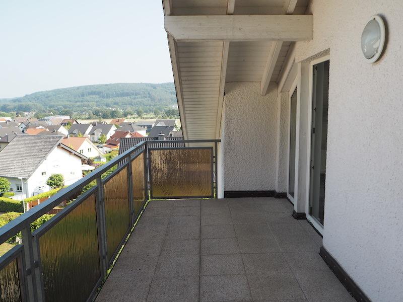 weitere Ansicht des Balkons