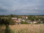 Blick über Grundstück