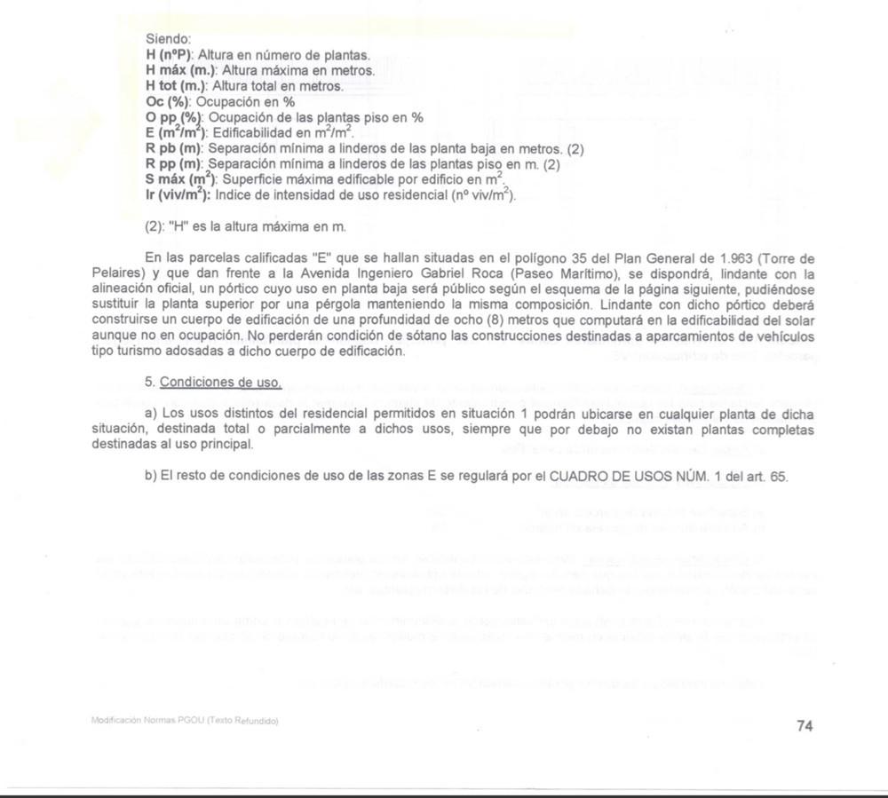 Erklärung zur Bebaubarkeit nach PG.A. E4a