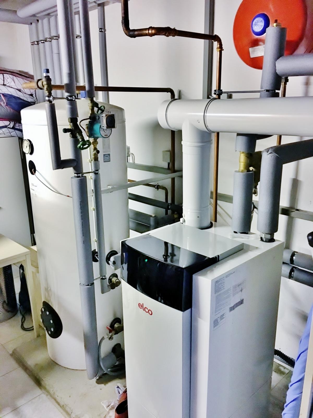 Heizungs- und Filteranlage