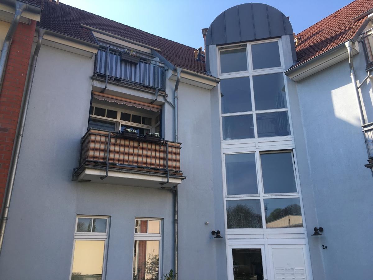 Treppenhaus und Balkon