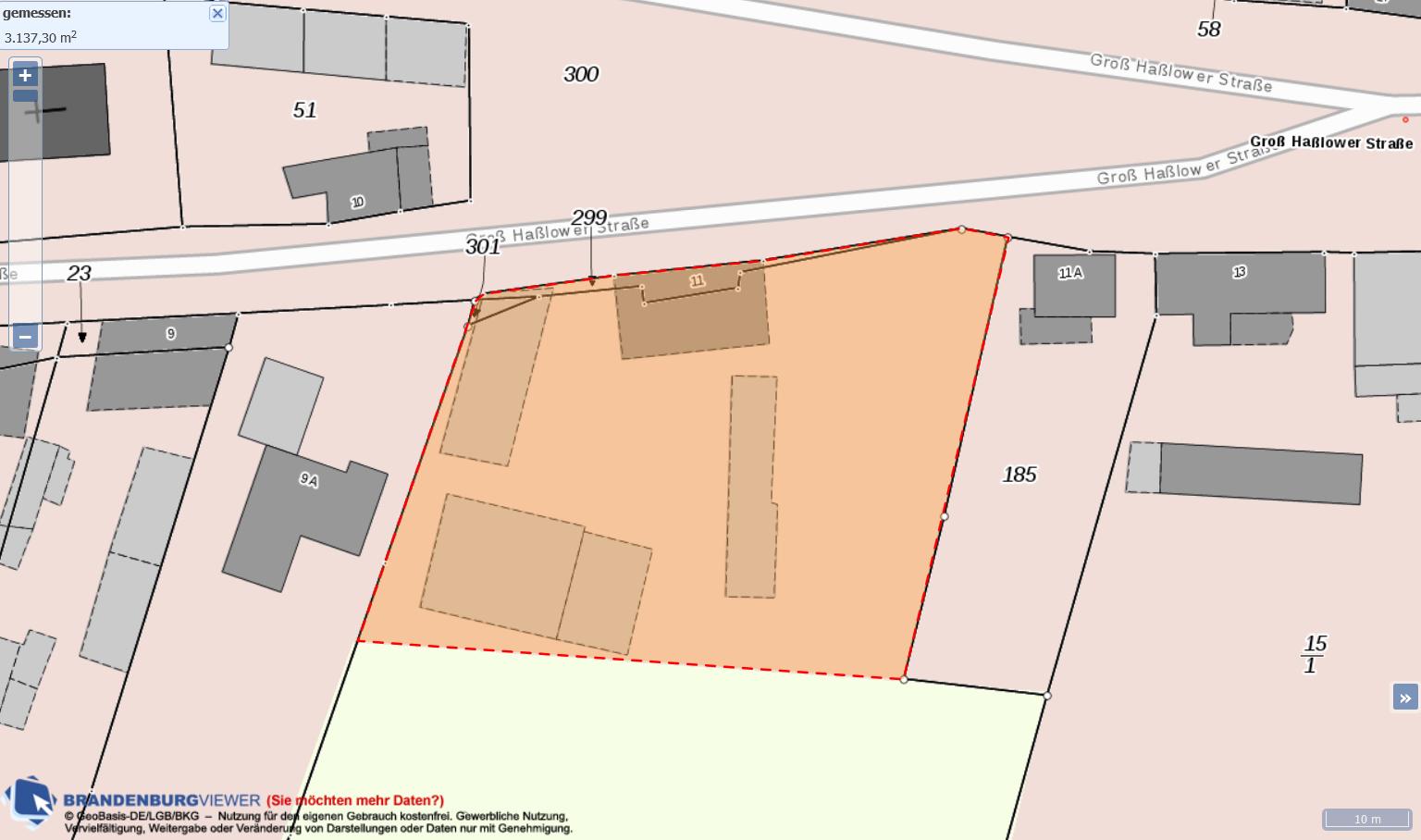 Lageplan Hofstelle