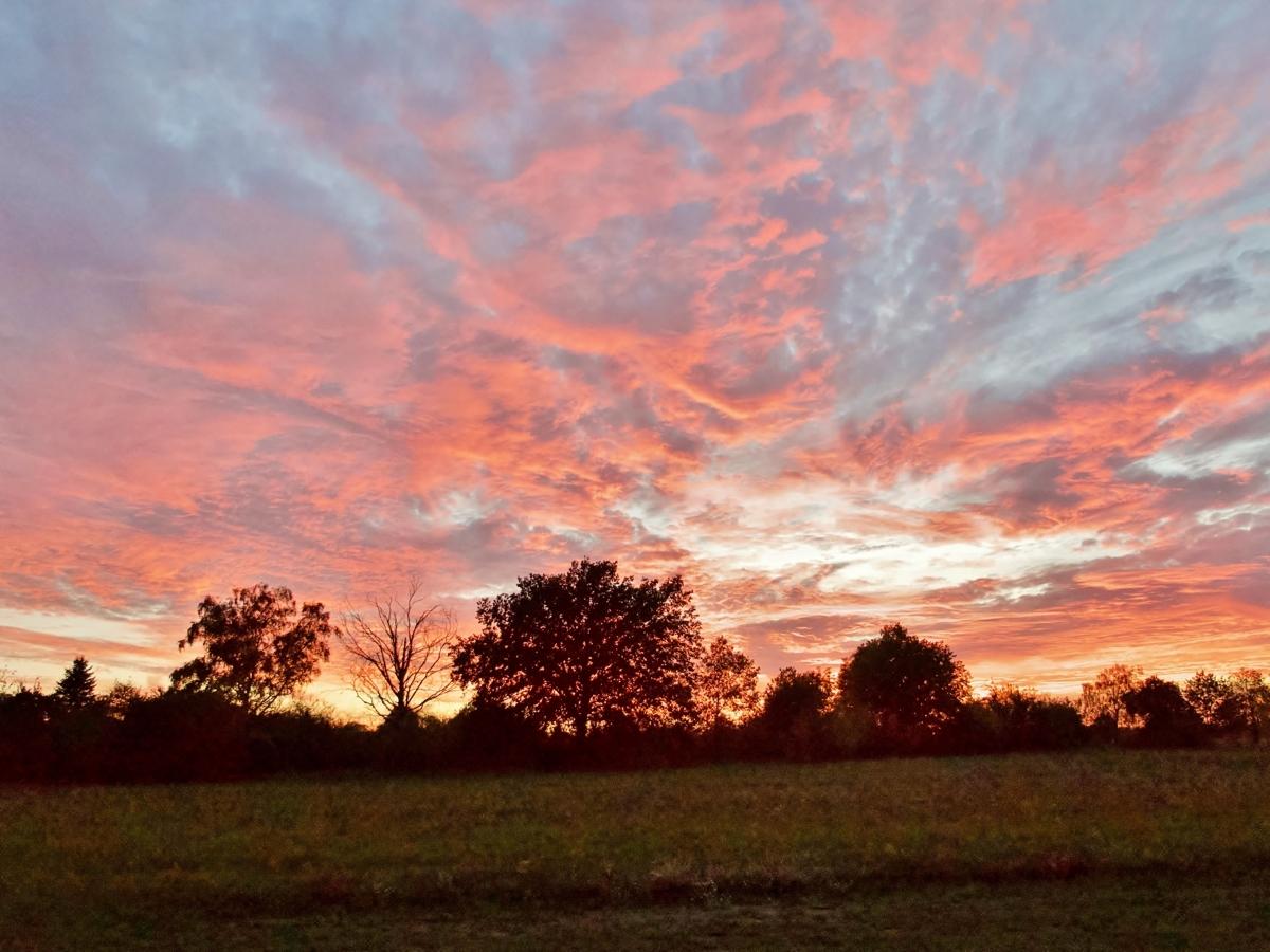 Ausblick Sonnenuntergang