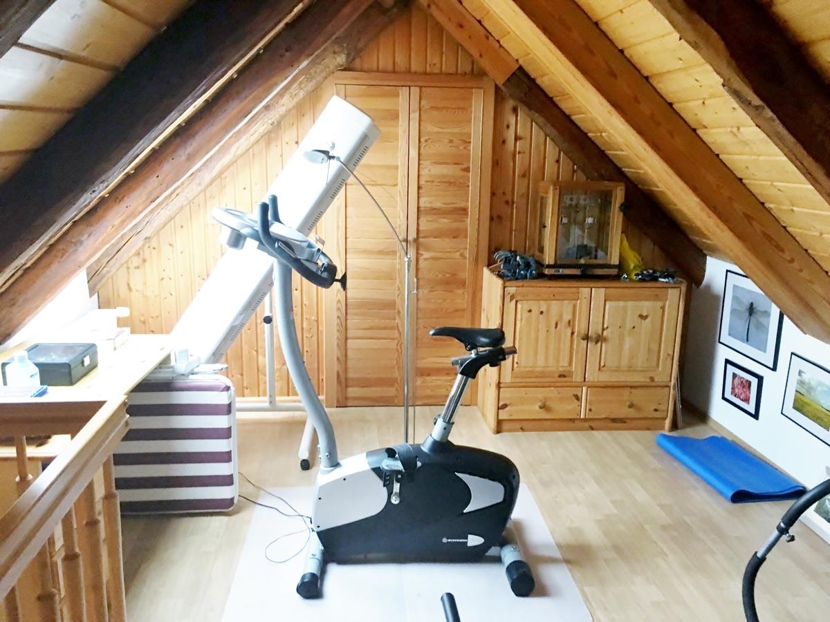 Fitness im Spitzboden