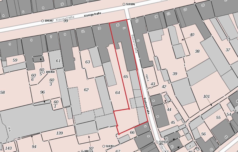 Lageplan Königstraße 15 - Scherrer