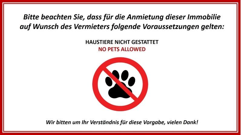 Keine Haustiere