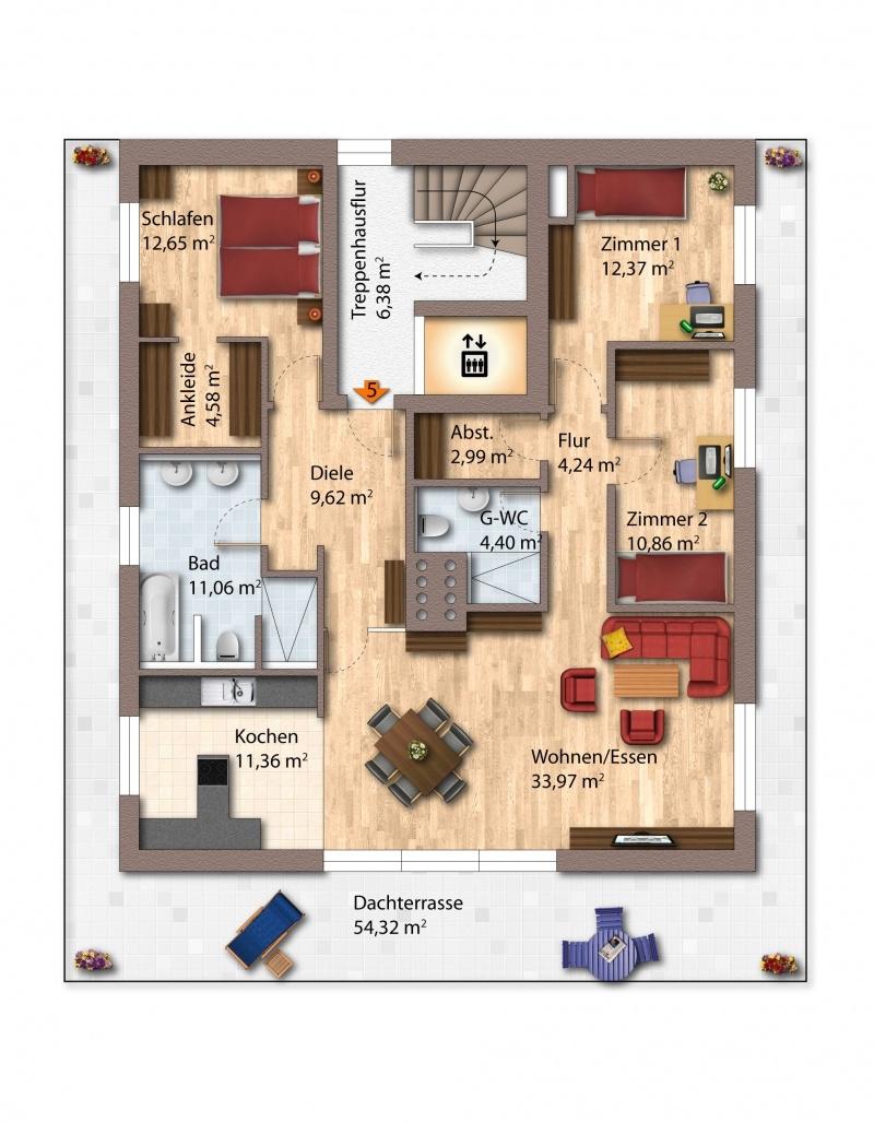 2. Obergeschoss Haus 2