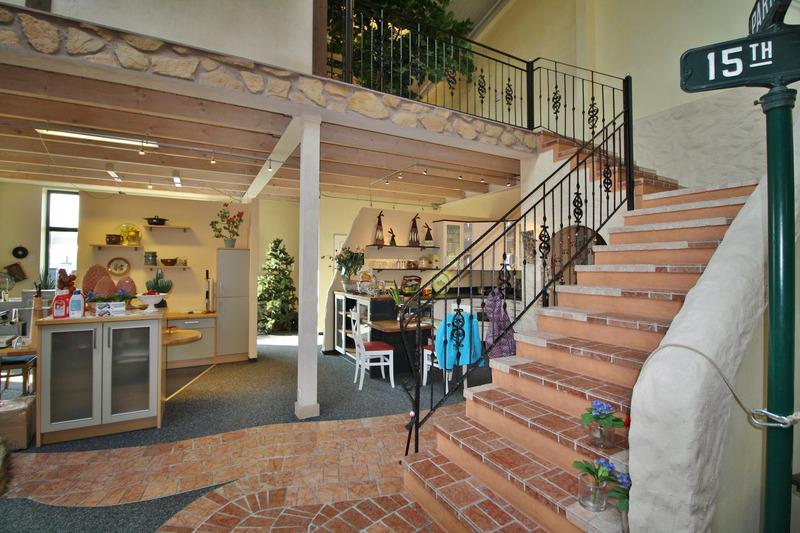 Treppe zur Galerie