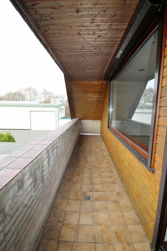 und Zugang auf die Loggia - Hinteres Haus