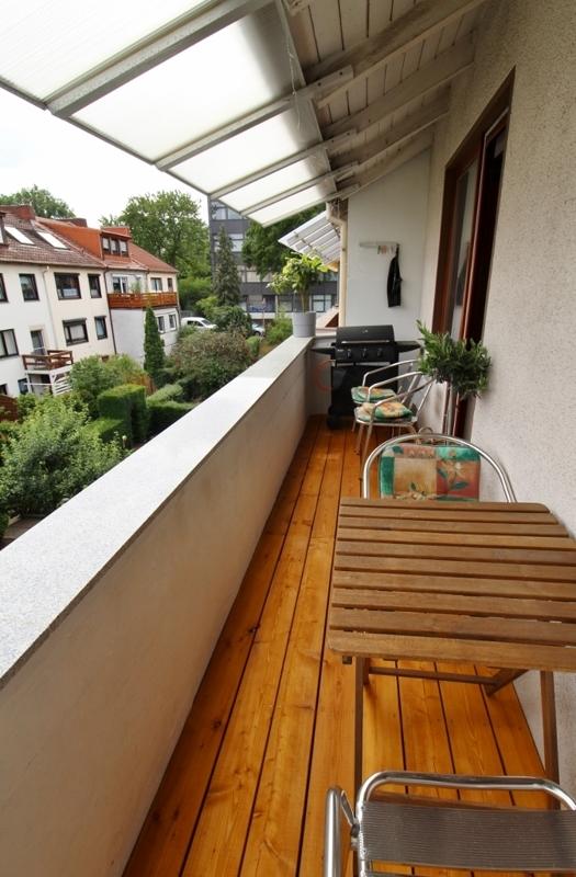 Zugang zur Loggia Wohnung Maisonette
