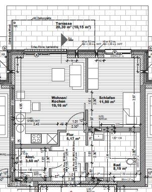 Grundriss Varreler Landstrasse 44B, Wohnung 2