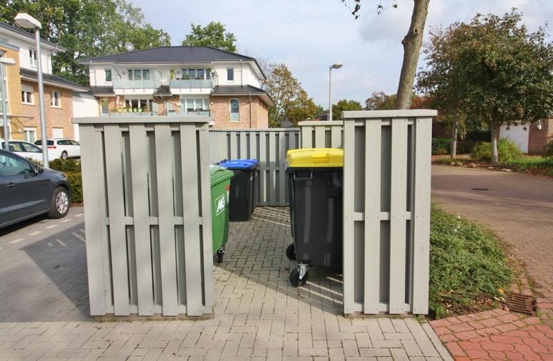 Platz für Mülltonnen