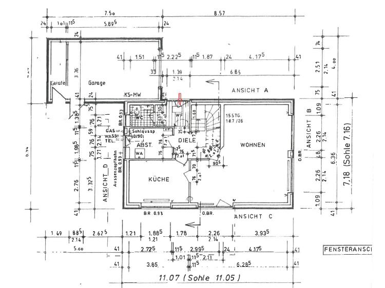 Erdgeschoss und Garage