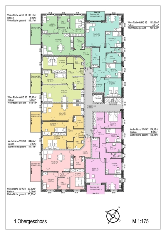 Grundriss 1. Obergeschoss