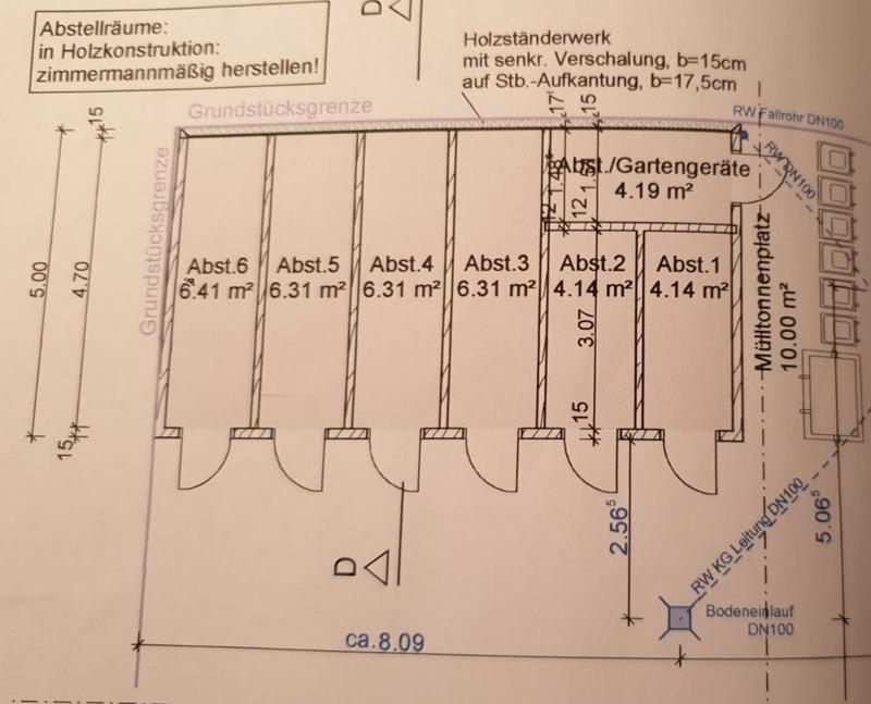 Grundriss Abstellräume