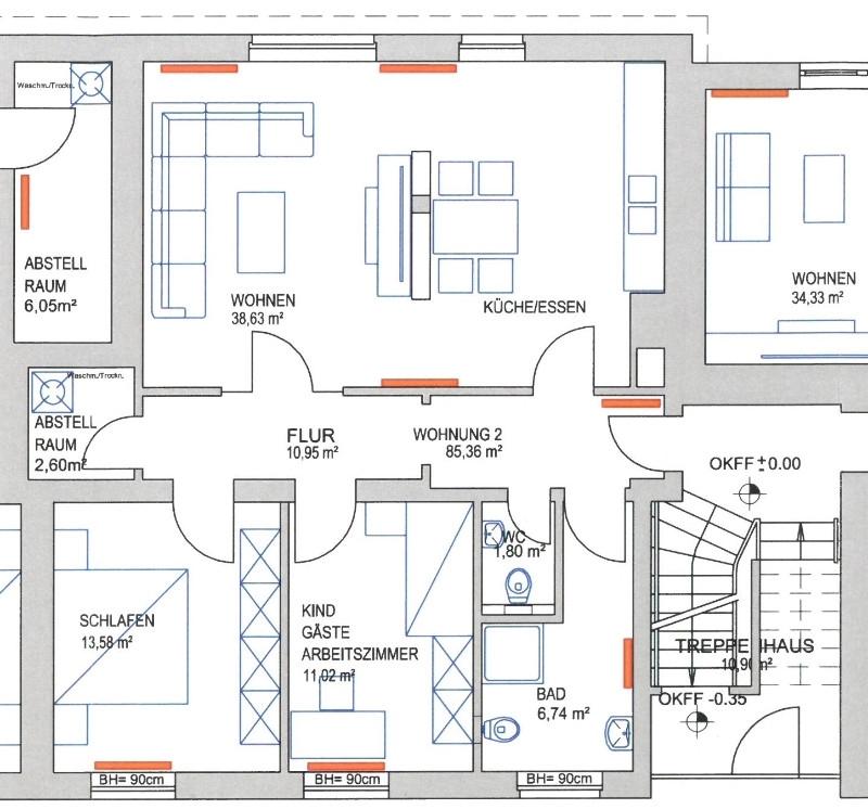 Grundriss EG Wohnung 2