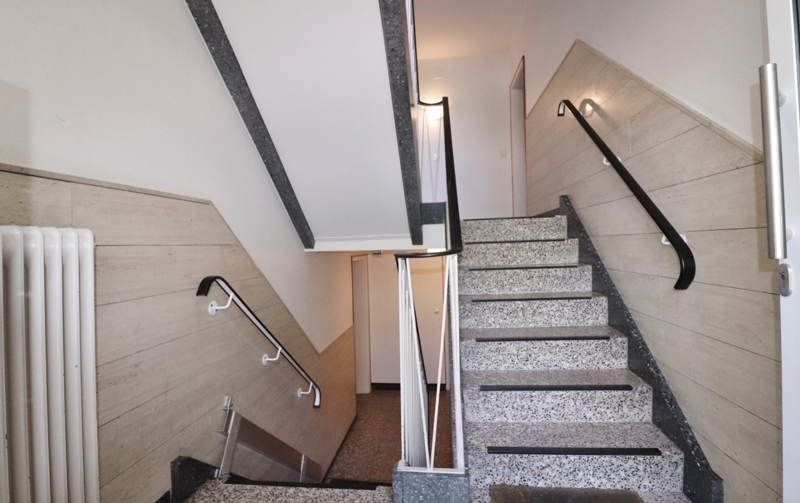 Treppen rauf ...